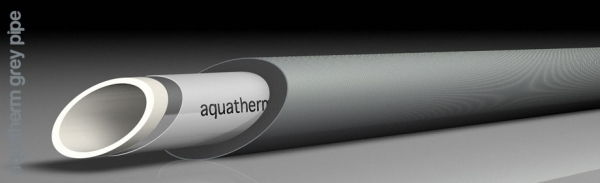 Aquatherm grey pipe PE-RT