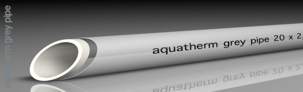 Aquatherm grey pipe PEX